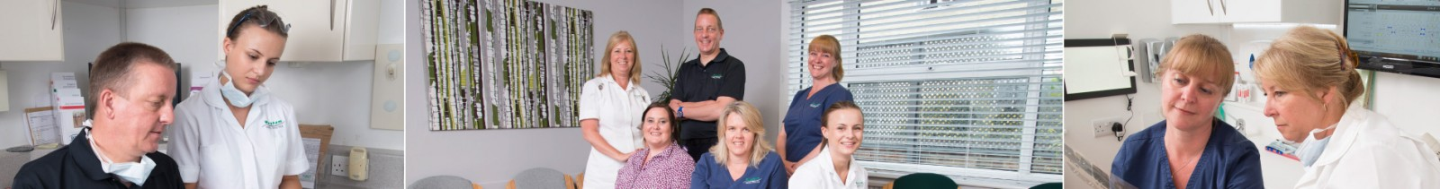 Martin Southon, Karin Lewis, Hayley Owers, Karen Peers, and Ellie Bradley dentists at Wingham Dental Practice